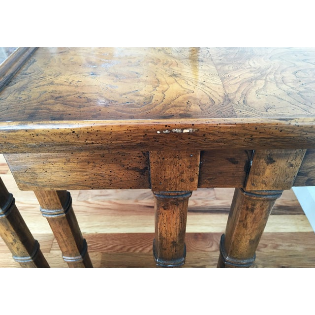 Brown Vintage Drexel Heritage Nesting Tables - A Pair For Sale - Image 8 of 9