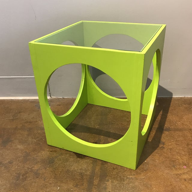Adrian Pearsall Lime Green Cube Table - Image 2 of 6