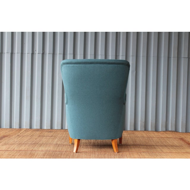 Ernest Race Dark Teal Armchair by Ernest Race, 1940s, England For Sale - Image 4 of 9