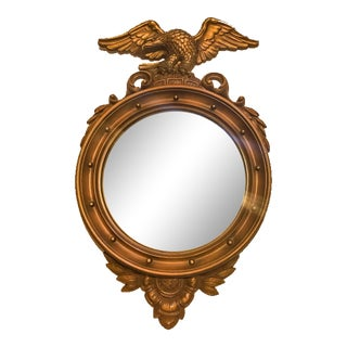 Syroco Inc. Federal Mid Century Convex Round Mirror For Sale