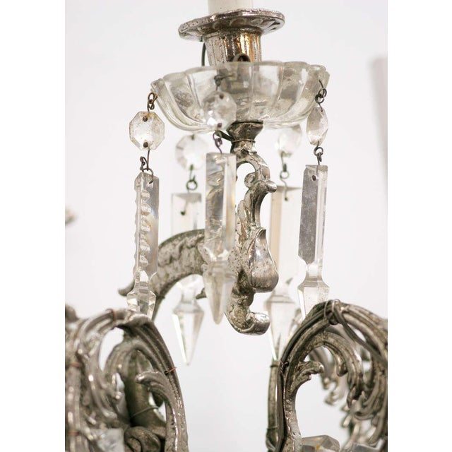 19th Century Nickel-Plated Bronze Rococo Dragon Wall Sconce Set of Four - Image 3 of 8