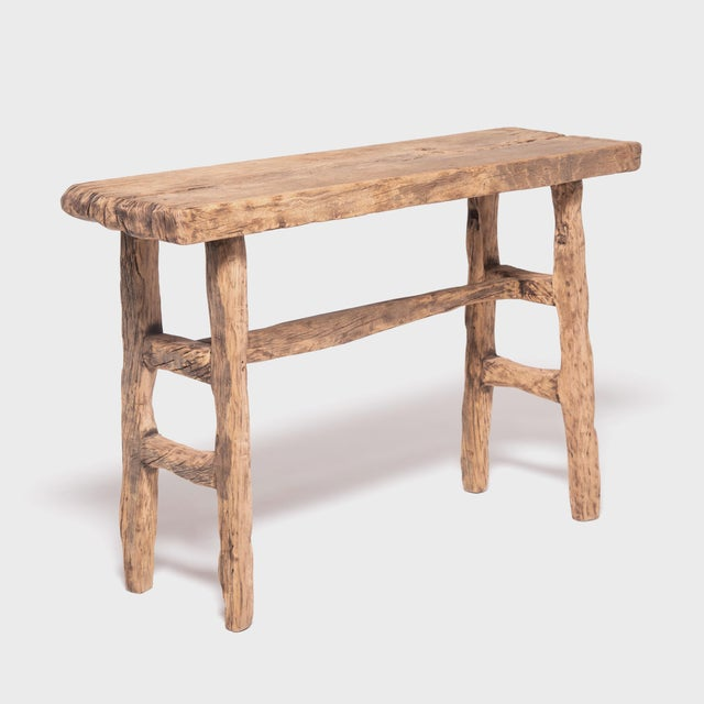 Wood Reclaimed Chinese Elm Courtyard Console Table For Sale - Image 7 of 7