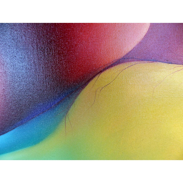 Abstract Oil on Canvas by Cuban-American Artist Juan Navarrete - Image 4 of 8
