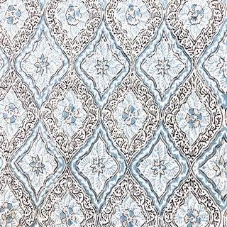 Boho Chic Rosa Bernal Alhambra Linen Designer Fabric by the Yard For Sale