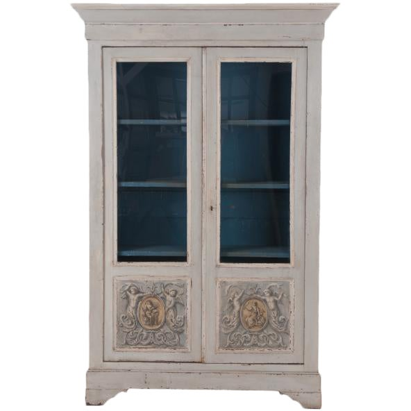 Italian Early 20th Century Painted Bibliotheque For Sale