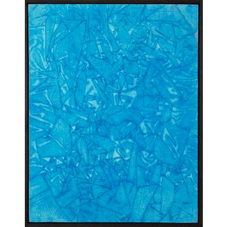A347' Acrylic Paint on Wooden Panel Painted by Marco Schmidli, Framed For Sale