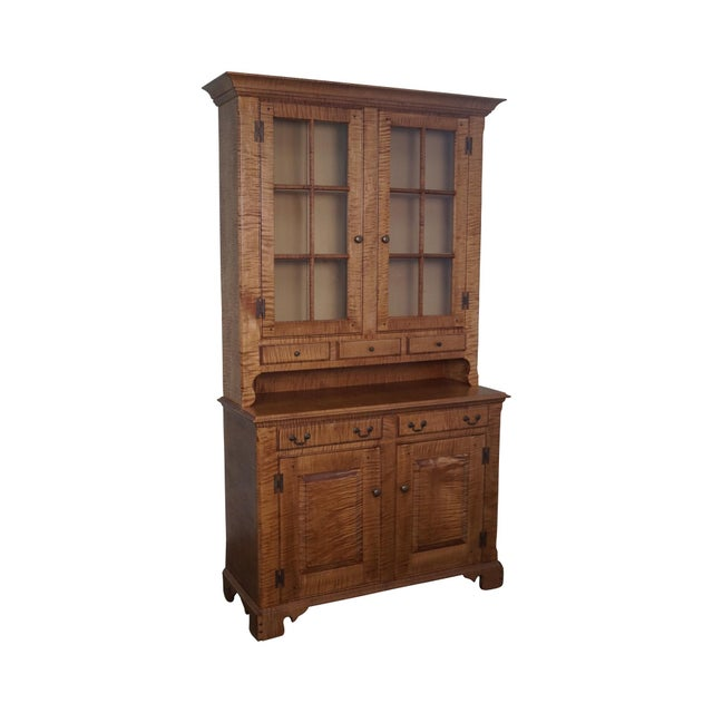 Custom Crafted Tiger Maple Dutch Cupboard - Image 1 of 10