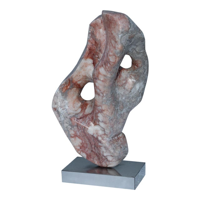 Mid-Century Modern Abstract Marble Sculpture For Sale