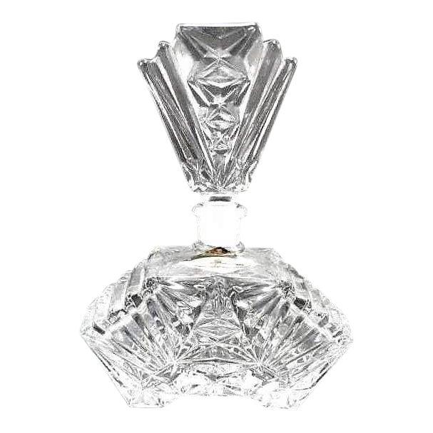 Art Deco Crystal Perfume Bottle Pompadour For Sale