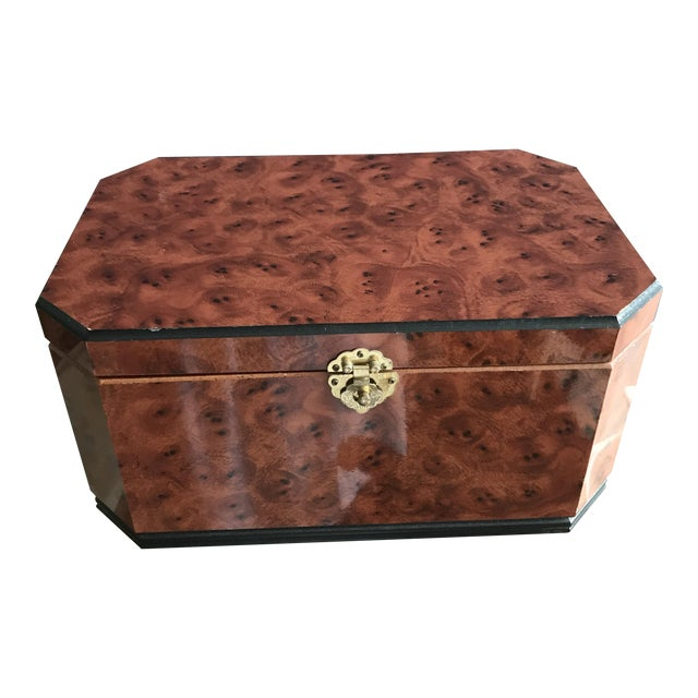 Vintage Burl Wood Box - Image 1 of 5