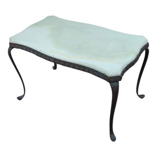 Antique Art Nouveau Bronze Coffee Table With Onyx Top For Sale
