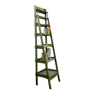 1970s English Green Seven Tier Graduated Shelf For Sale