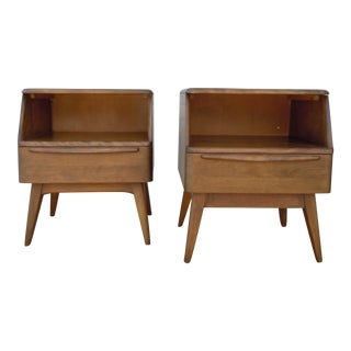 Heywood-Wakefield Mid-Century Modern Birch Encore Nightstands - a Pair
