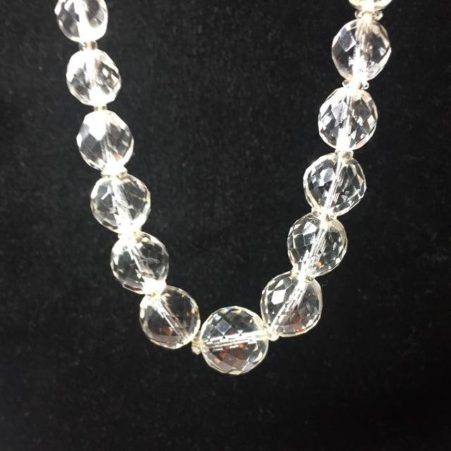 Green Edwardian Cut Lead Crystal Bead Choker Necklace & Sterling Earrings,1905 For Sale - Image 8 of 13