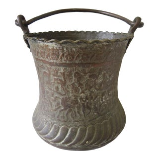 1950s Moroccan Bronze Bucket For Sale
