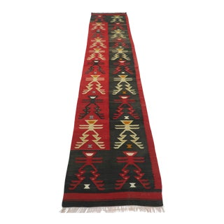 "Vintage Turkish Kilim Runner-2'4'x10'8"" For Sale"
