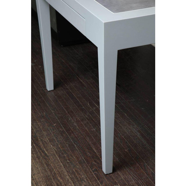 Venfield Metallic Grey Leather and Lacquer Game Table For Sale - Image 4 of 8