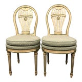 Image of Maison Jansen Louis XVI Montgolfier Balloon Chairs - Pair For Sale