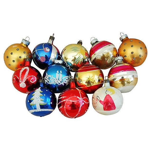 1960s Christmas Ornaments with Box - Set of 12 - Image 5 of 9
