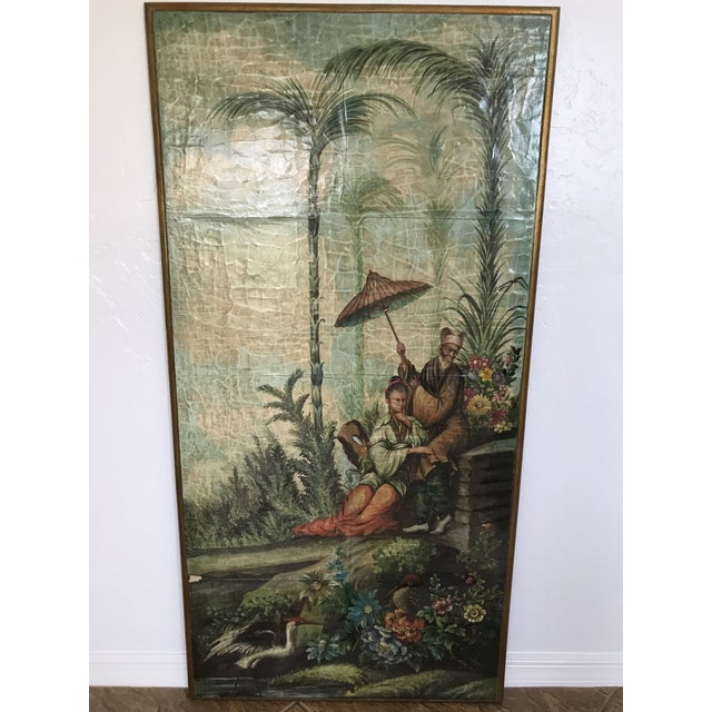 Chinoiserie Decoupaged Wall Hanging For Sale - Image 12 of 13