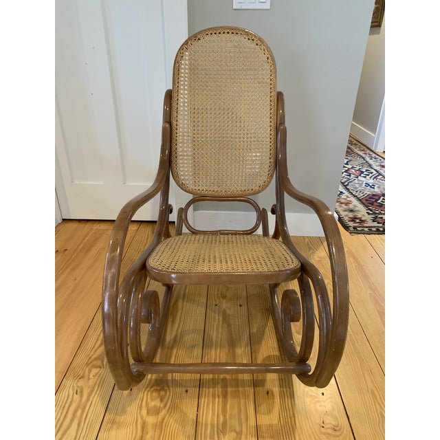 1970s Vintage Thonet Bentwood Rocking Chair For Sale - Image 10 of 12