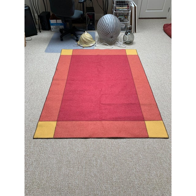 2010s Contemporary Paolo Lenti Felt Rug - 4′5″ × 5′11″ For Sale - Image 5 of 6