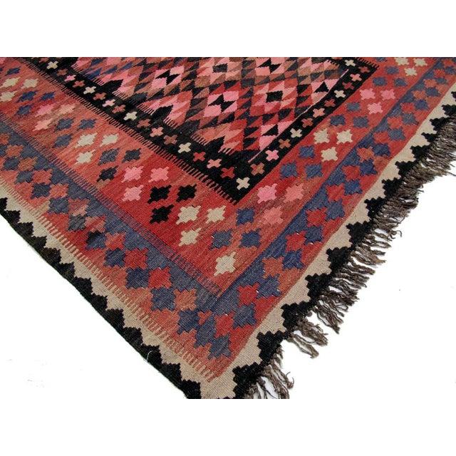 """Vintage Afghan Kilim - 4'9"""" x 6'6"""" - Image 3 of 3"""