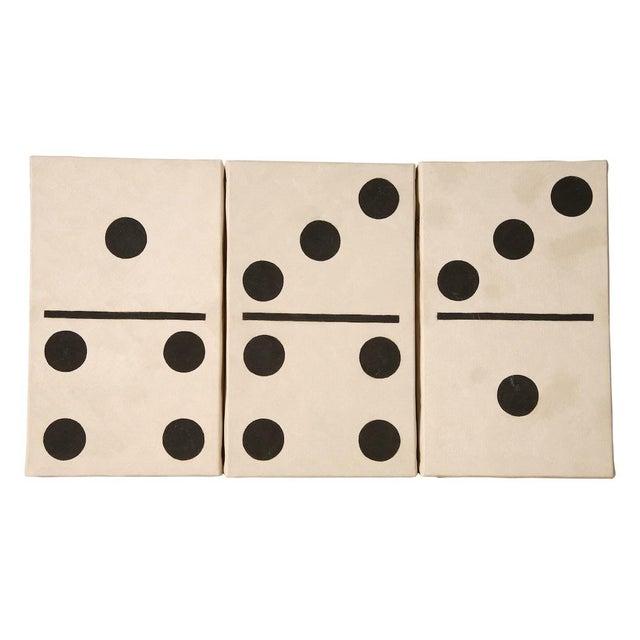 2000 - 2009 Pop Art Domino Set #12 Oil on Canvas by Lynne Bernbaum For Sale - Image 5 of 5