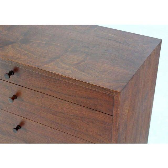Mid-Century Modern Mid Century Modern Walnut Four Drawer Bachelor Dresser For Sale - Image 3 of 9