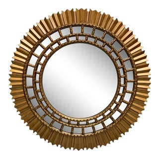 Large Modern Sunburst Mirror For Sale