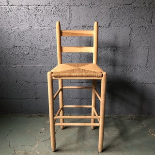 21st Century Vintage Pine Bar Height Stools - Set of 4 Preview