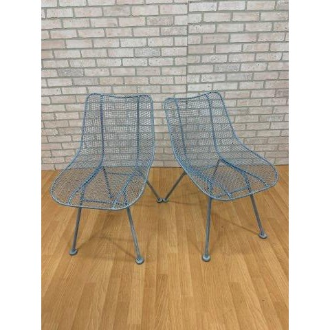 Mid Century Modern Russel Woodard Sculptural Collection Patio Chairs - Pair For Sale - Image 11 of 11