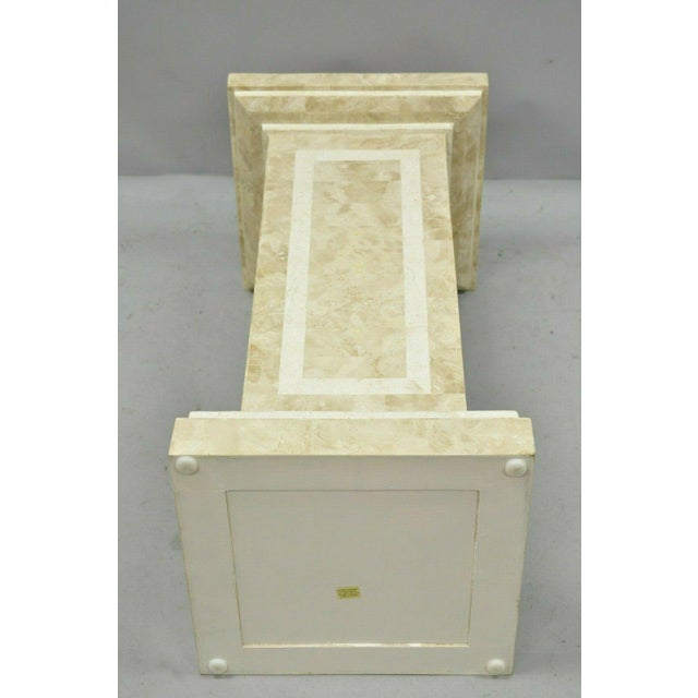 Stone Late 20th Century Tessellated Stone Column Pedestal by Marquis Collection of Beverly Hills For Sale - Image 7 of 9