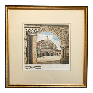Stanford Memorial Church Etching For Sale