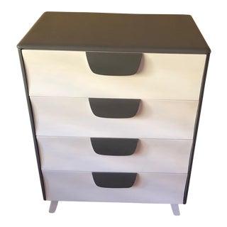 Mid-Century Modern Grey & White Dresser