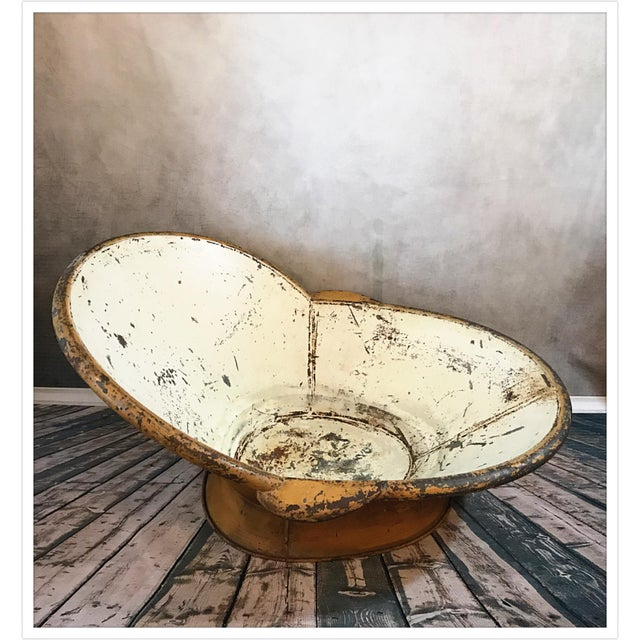 Antique French Zinc Bathtub For Sale In Richmond - Image 6 of 11
