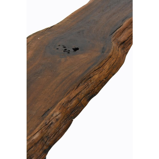 Iron Live Edge Console Table For Sale - Image 7 of 9