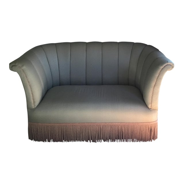 French Style Settee With Fringe - Image 1 of 9