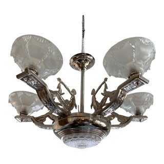 1930s French Art Deco Chandelier For Sale