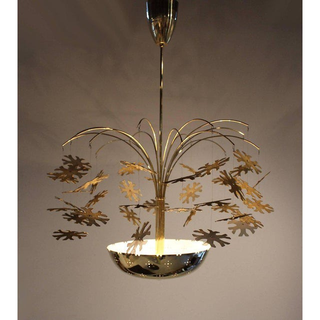 Magnificent Paavo Tynell Snowflake Chandelier For Sale - Image 9 of 10