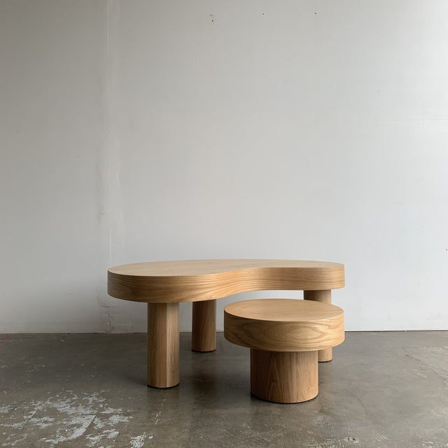 1980s Style Kidney Two Tiered Coffee Table - a Pair For Sale - Image 13 of 13