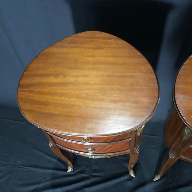 French Louis XV Style Nightstands -A Pair For Sale - Image 10 of 12
