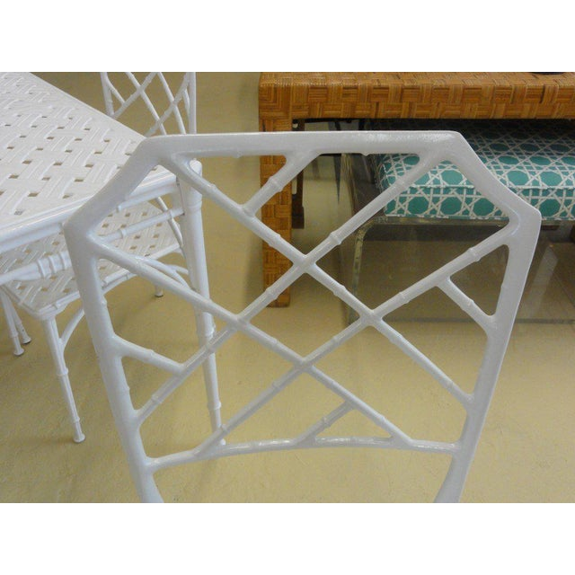 Brown Jordan Calcutta Game Table & Chairs - Image 2 of 7