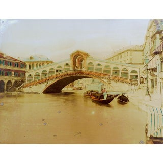 Antique Hand Tinted Photograph of Venice Italy For Sale