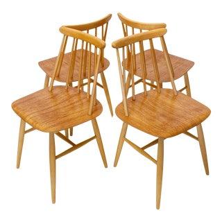1960s Fanett 55 T, Dining Chairs by Ilmari Tapiovaara for Edsbyverken - Set of 4 For Sale