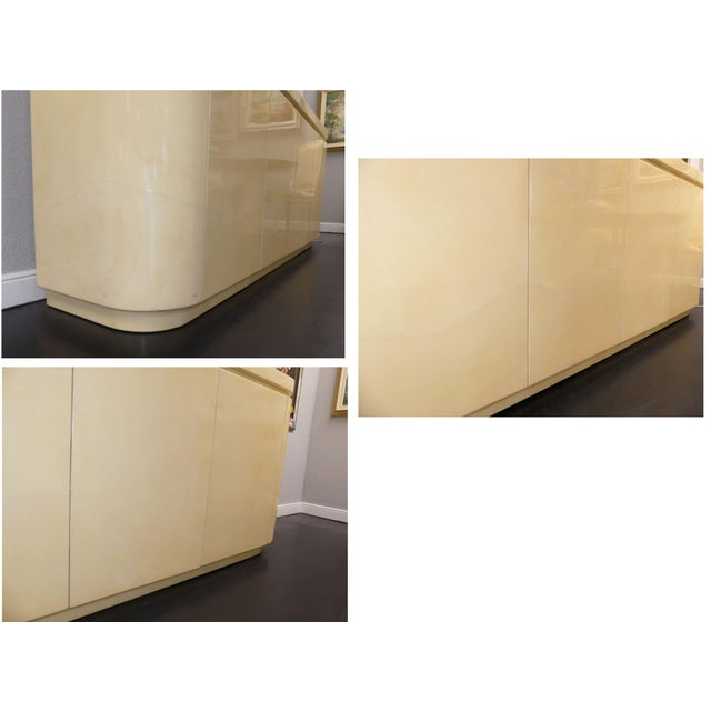 Mid-Century Modern Jimeco Ltda Lacquered Goatskin Credenza For Sale - Image 9 of 13