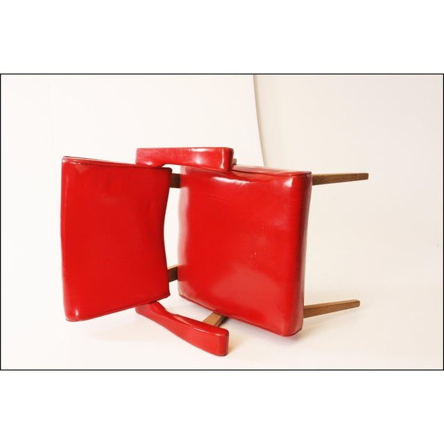 Mid Century Modern Red Viking Artline Slipper Chair For Sale - Image 10 of 11