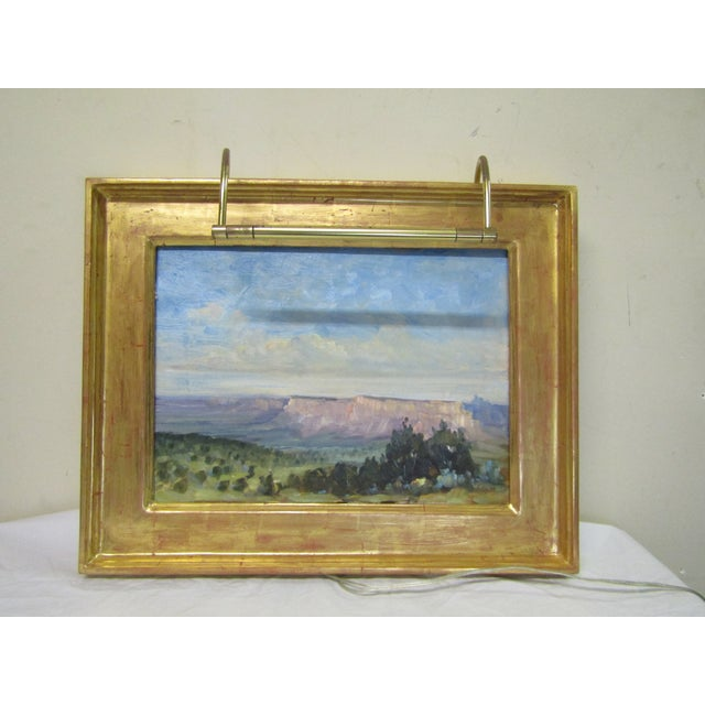 Oil Paint Original Signed Southwest Landscape Oil on Canvas Painting For Sale - Image 7 of 8