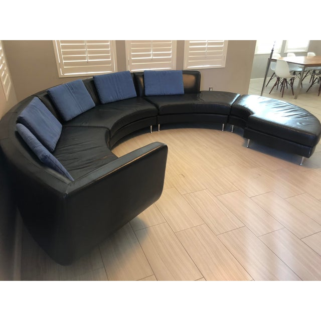 Aluminum Contemporary American Leather Menlo Park Sectional For Sale - Image 7 of 13