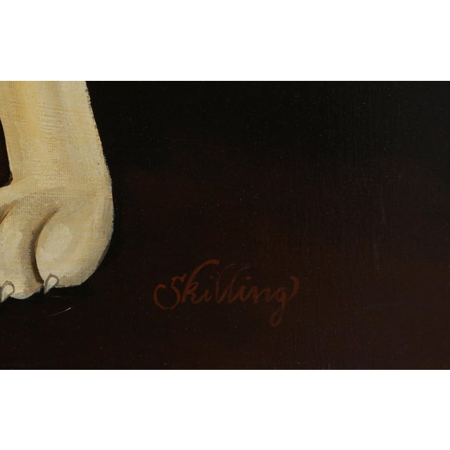 1940s William Skilling, Irish Hound Dog, Oil on Canvas, Signed For Sale - Image 5 of 7